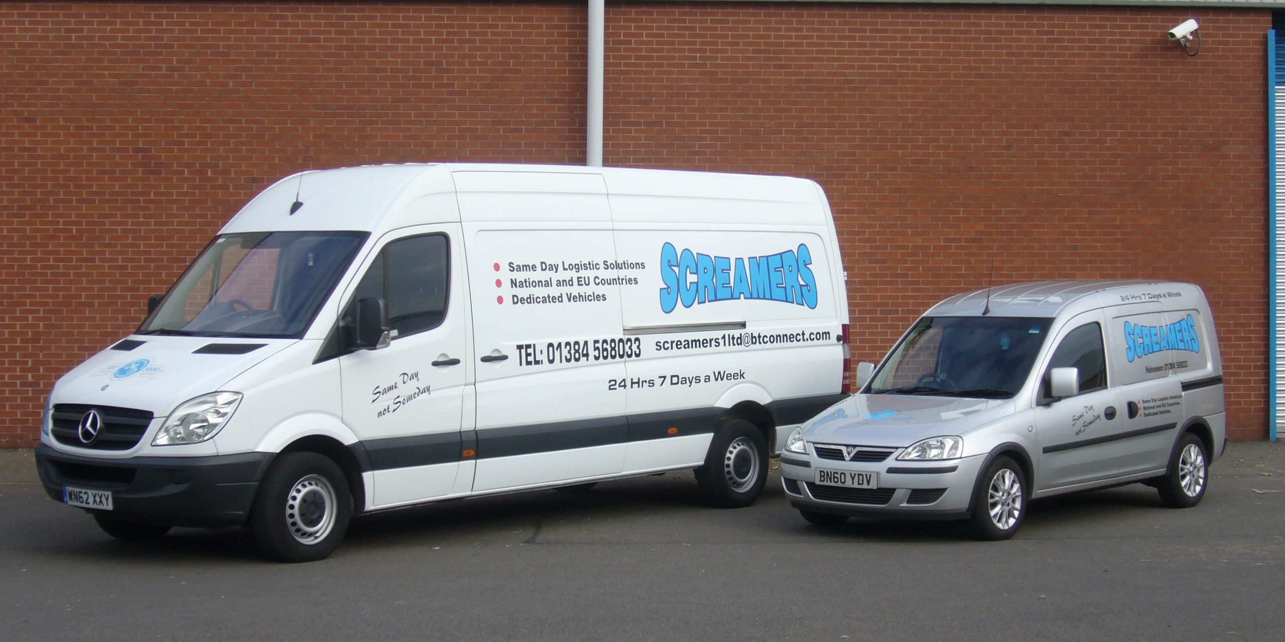 Screamers Ltd delivery vans